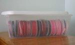 Organizing Ribbon for Scrapbooks