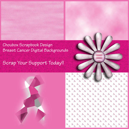 Cancer Scrapbook Layouts