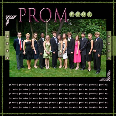 Prom Layout Example
