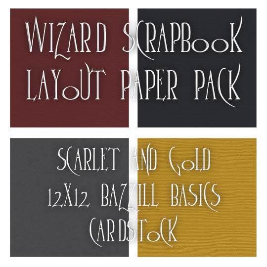 Scarlet and Gold Paper Pack