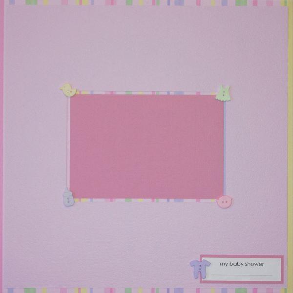 Baby Girl – Baby Shower Signature Layout