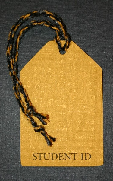 School ID Tag - Black and Gold