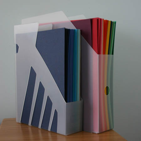Vertical Paper Storage Idea