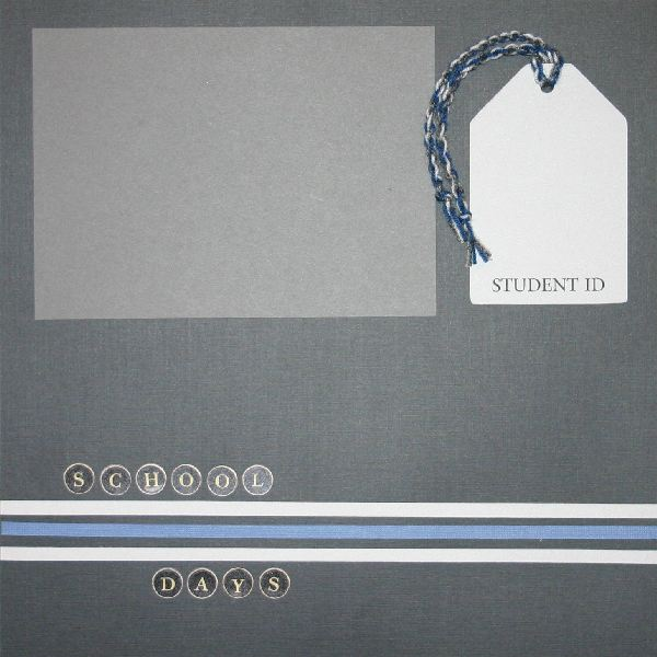 School Days - Silver and Blue
